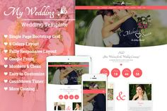 Wedding - One Page Template  @creativework247