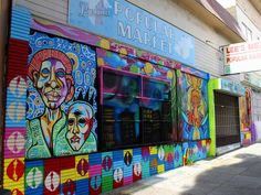 A colorful new mural at Lee's Popular Market.