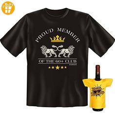 Cooles Set zum Geburtstag : 60+ CLUB ! Happy Birthday! Extra Mini T-Shirt von Goodman Design® - Shirts zum 60 geburtstag (*Partner-Link)