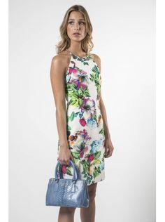 Bolso mini shopping BAG y Vestido flores brocado www.felipevarela.com