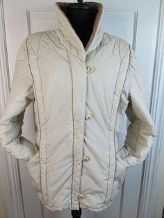 Beige Mulberry Street Bubble Woman's Coat Jacket Size 11 #MulberryStreet #BasicJacket