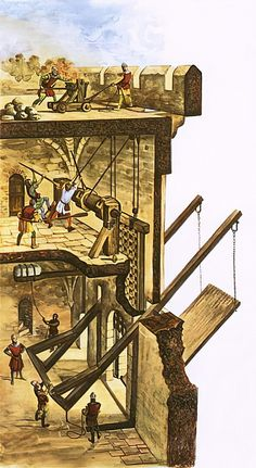 Raising the drawbridge by Peter Jackson as fine art print. High-quality museum quality from Austrian manufactory. Stretched on canvas or printed as photo. We produce your artwork exactly like you wish. With or without painting frame. Fantasy Castle, Fantasy Map, Medieval World, Medieval Castle, Fortification, Ancient Architecture, Painting Frames, Raising, Fine Art Prints