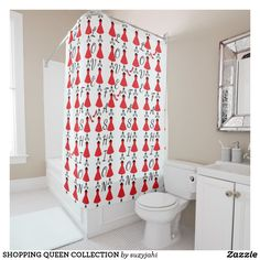 SHOPPING QUEEN COLLECTION SHOWER CURTAIN