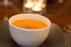Sweet and spicy butternut squash soup