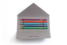 Matite d'Epoca pencil set –beautiful folding envelope packaging