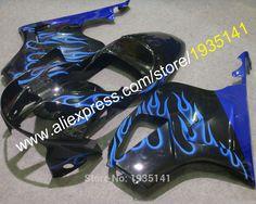 Hot Sales,For Honda VTR1000 SP1 SP2 RC51 00-07 VTR 1000 2000 2001 2002 2003 2004 2005 2006 2007 blue flame Motorcycle Fairing #Affiliate