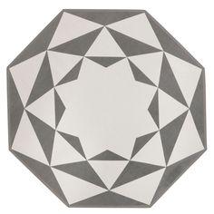 Une forme originale octogonale, des motifs envoûtants, voici le tapis Octagon 100 % coton de Ferm Living.