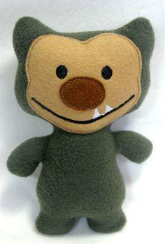 Bestie Beast Troll Plush Stuffed MOnster Softie by lilliannamarie, $12.00