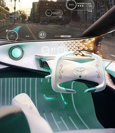 Toyota-i CES 2017 Driver's info UI