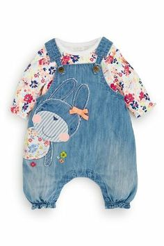 Buy Bunny Dungarees And Bodysuit Set (0-18mths) from the Next UK online shop