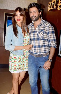 Bipasha Basu and Harman Baweja at Creature 3D's screening. #Bollywood #Fashion #Style #Beauty