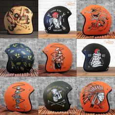Helmets Painting Collection on Behance Motorcycle Helmet Design, Biker Helmets, Cafe Racer Helmet, Bobber Motorcycle, Moto Bike, Women Motorcycle, Vintage Motorcycles, Custom Motorcycles, Honda Motorcycles