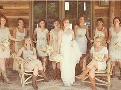 We love the vintage feel of this wedding. And, all the different boots are awesome!