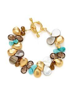 Alanna Bess Jewelry  Multi Stone Teardrop Strand Bracelet