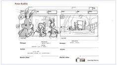 Peter Rabbit Storyboard D Animated Series  Storyboard