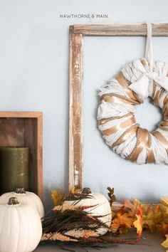 Decorating our home for the fall should not be hard or stressful. I love simple DIYs. Grab a few supplies and make this with your girlfriends or while watching your favorite show. I love how easy and festive it is!