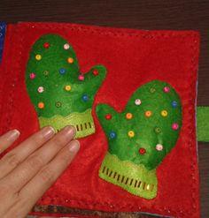 manoplas para tocar y sentir Christmas Ornaments, Holiday Decor, Book, Home Decor, Hand Sewing, Felt, Needlework, Blue Prints, Xmas Ornaments