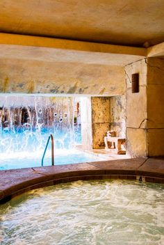 Jacuzzi with Waterfall at the Cancun Resort in Las Vegas, NV