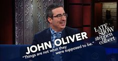 #World #News  John Oliver tells Stephen Colbert that he's 'slightly concerned' about…  #StopRussianAggression #lbloggers @thebloggerspost