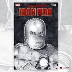 I am Iron Man!  Original Sketch Cover Tony Stark Iron Man rendered with Copic Markers.  #Ironman #sketchcovers #comics #comicart