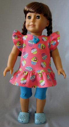 18 Inch Doll Clothes  Cupcake Dress and by SewMyGoodnessShop, $18.00