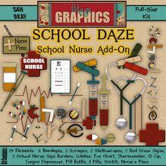 decorations for school nurse office   MagsGraphics Digital Scrappin' Blog: School Daze : SCHOOL NURSE Add-On