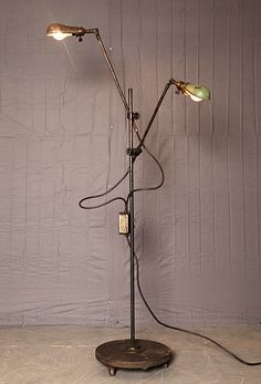 Industrial floor lamp by O.C. White and Co. / dimensions: H6'