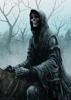 Rider-of-Death by James Nathan -- Rather reminds me of Terry Pratchett's character Death.