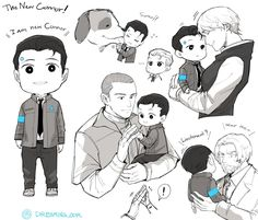 Detroit become human Connor, Sumo, Hank, Kara and Markus By: @DREAMING_OOR