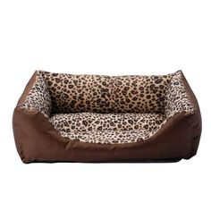 PlayDo Pet Dog Puppy Bed Leopard Pattern Indoor Warm Sofa House ** Check out the image by visiting the link. (This is an affiliate link and I receive a commission for the sales)