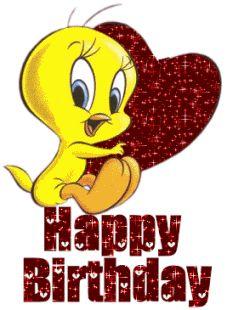 Piolín junto a corazón te desea un Happy Birthday - ツ Imagenes y Tarjetas para Felicitar en Cumpleaños ツ