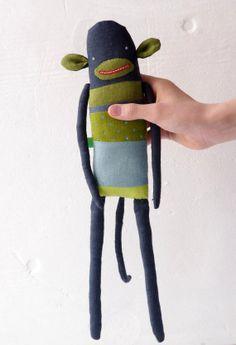 Monkey. Ready to ship. by adatine on Etsy