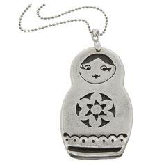 Babushka Doll Pendant necklace / Hilary&June