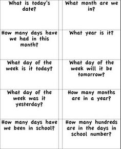 Bang!!!! Very cute activity for calendar related questions....