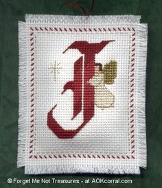 JOY Angels Christmas Ornaments for Cross Stitch