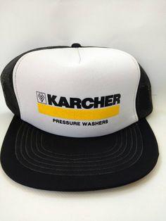 4ab9b139fbb Karcher Pressure Washers Vintage Mesh Trucker Hat Snapback Black Retro 1980s  by RockabillyPinUps on Etsy