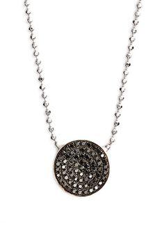Bony Levy 'Aurora' Diamond Pavé Circle Pendant Necklace (Nordstrom Exclusive) | Nordstrom