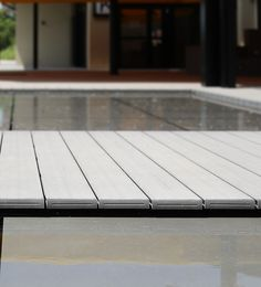 UPM ProFi End Caps give final touch to your decking. The end caps can be easily clicked into UPM ProFi Deck 150 boards. Plastic Decking, Composite Decking, Restaurants, Hotels, Boards, Touch, Beautiful, Swiming Pool, Planks