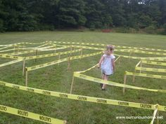 Our Curious Home » Blog Archive » Making a Maze from Caution Tape: Guest Post by Dan (DH)
