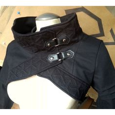 Plutonium Cyberpunk Anime Inspired Cropped Jacket With Cowl  Steampunk!