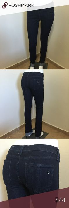 Rag & Bone Pencil Leg Era Dark Blue Wash Sz 27 L33 Label- Rag & Bone  Style- The Pencil Leg Skinny Jeans 5 pocket style, stretchy and comfortable, mid rise  Size-27, Inseam- 33, (too long for my manni so had to cuff the hem) Rise- 9 inches, Leg opening-6 Waist- 30 Hips-38  Color- Era Wash, Medium Indigo Blue  Fabric-98% Cotton, 2% Lycra Stretch Condition-Barely used, Worn and washed once, excellent condition Origin-USA rag & bone Jeans Skinny