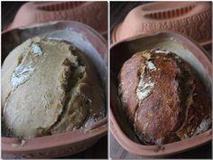 Homemade bread in the Römertopf Cooking Bread, Bread Baking, Bread Recipes, Cooking Recipes, Bread Bun, Tasty, Yummy Food, Pampered Chef, Sourdough Bread
