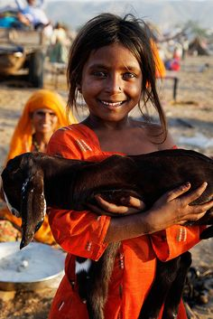 India ... Girl and her baby goat by phitar, via Flickr