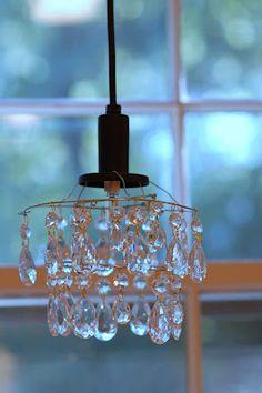 little homemade chandelier