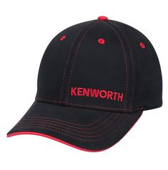 Kenworth Trucks Black   Red Fitted Stretch Contrast Stitch Cap - Kenworth  Trucks Black   Red faf8901767d3