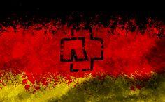 Rammstein logo Deutschland Flag by Algrad