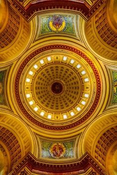 Dome Interior, Rotunda, Wisconsin State Capitol Building, Madison