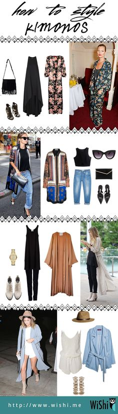 Kimonos go with everything and are perfect for fall. It's almost like a light blanket. Here are some great outfit ideas.
