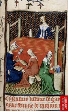 Tanaquil, De mulieribus claris (British Library, Royal 20 C V, fol. 75), beginning of the 15th century
