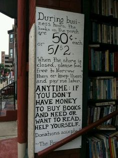 We need more people and places like this.